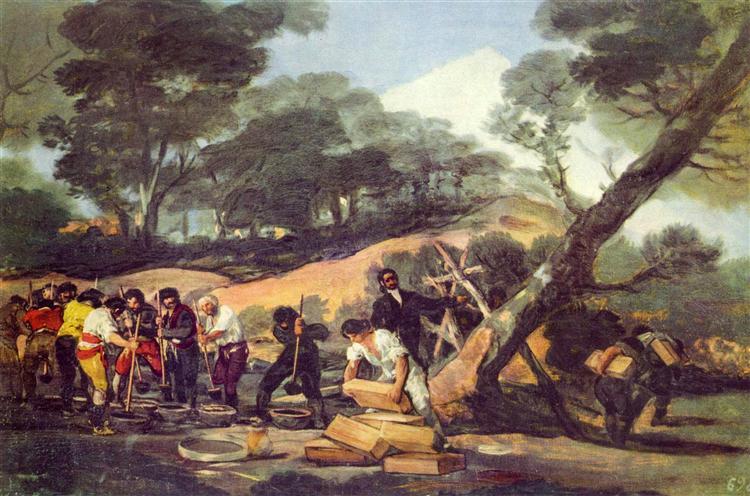 Powder Factory in the Sierra, c.1814 - Francisco Goya