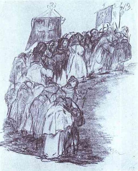Procession of Monks - Francisco Goya