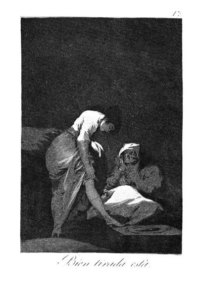 She is well pulled down, 1799 - Francisco Goya