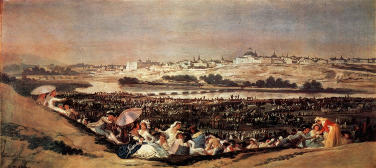 The Meadow of San Isidro on his Feast Day, 1788 - Francisco Goya