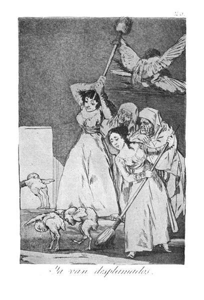 They already go plucked, 1799 - Francisco Goya