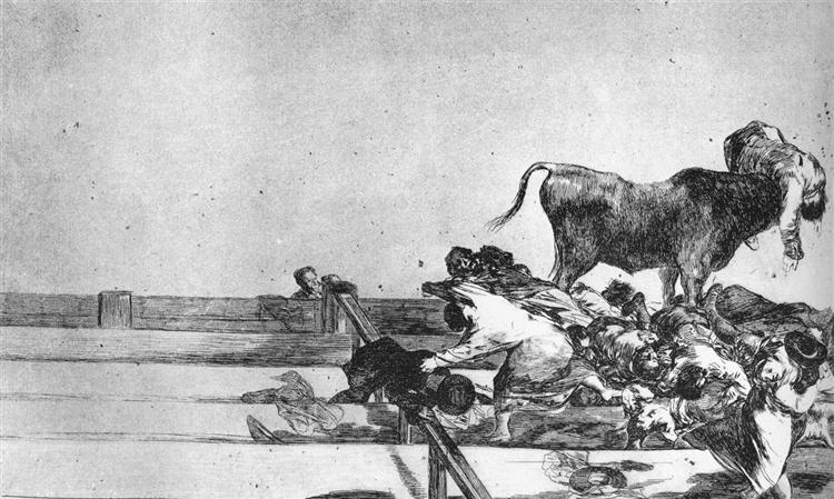 Unfortunate Events in the Front Seats of the Ring of Madrid, 1815 - 1816 - Francisco Goya
