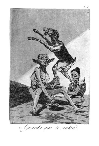 Wait till you have been anointed, 1799 - Francisco Goya
