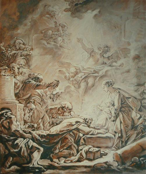 Adoration of the Magi, 1755 - 1760 - Francois Boucher