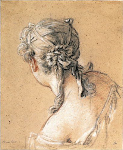 Head of a Woman from Behind, c.1740 - Francois Boucher