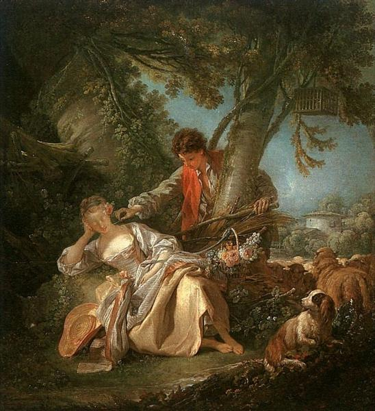 The interrupted sleep, 1750 - Francois Boucher