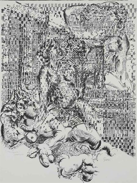 Tiru-Fragments, 1984 - Francois Rouan
