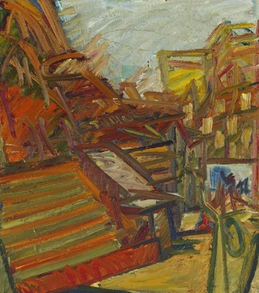 To the Studios, 1990 - 1991 - Frank Auerbach
