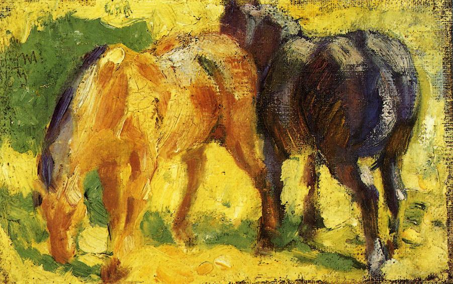 Small Horse Picture, 1909 - Franz Marc - WikiArt.org