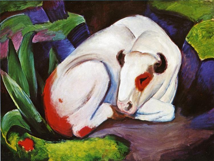 The Steer (The Bull) - Franz Marc