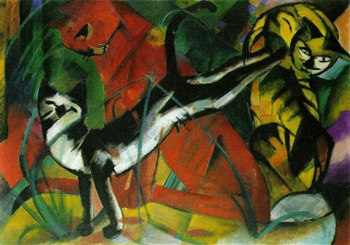 Three Cats - Franz Marc