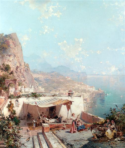 Amalfi, el Golfo de Salerno - Franz Unterberger Richard