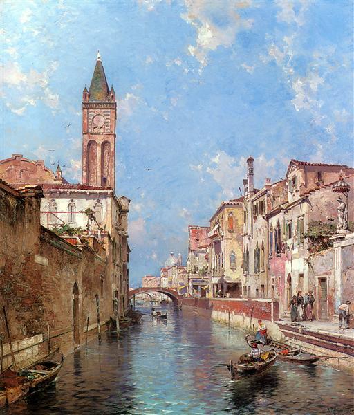 Río de Santa Barnaba, Venecia - Franz Unterberger Richard