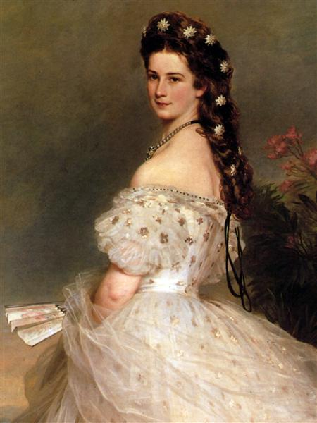 Empress Elisabeth of Austria in dancing dress, 1865 - Franz Xaver Winterhalter