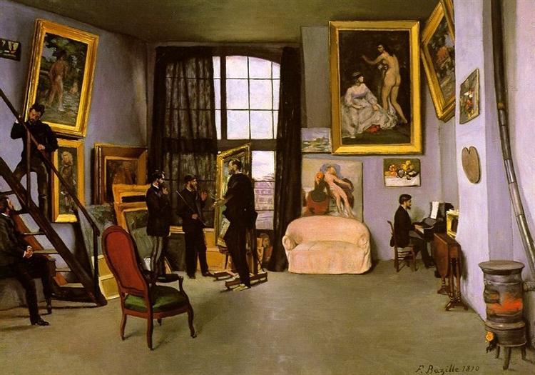 The Artist's Studio, Rue de la Condamine, 1870 - Frederic Bazille