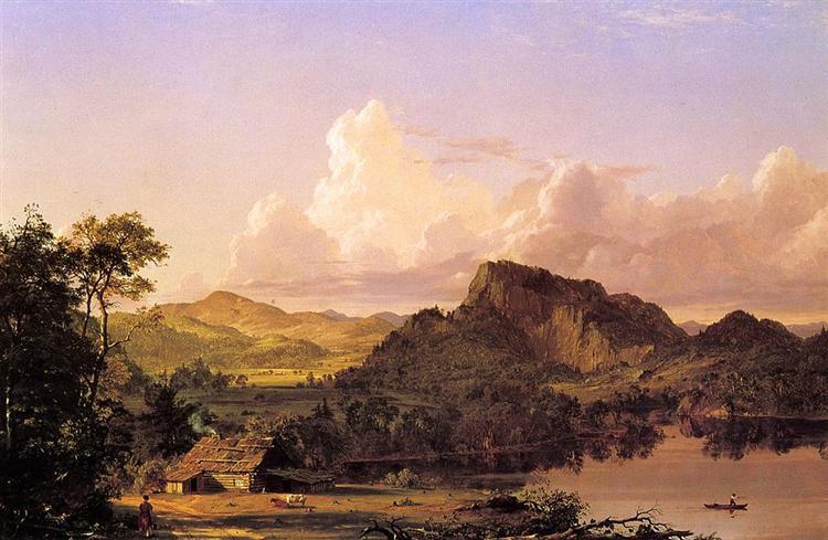 Home by the Lake, 1852 - Фредерик Эдвин Чёрч