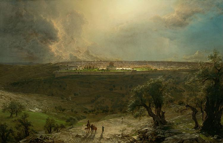 Jerusalem from the Mount of Olives, 1870 - Frederic Edwin Church