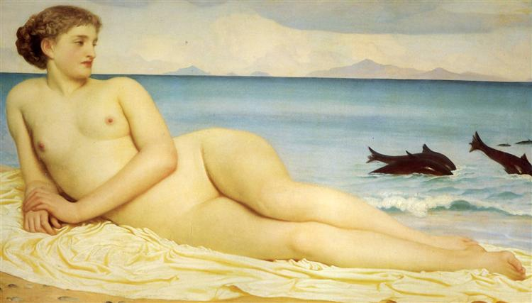 Actaea, the Nymph of the Shore, 1853 - Frederic Leighton