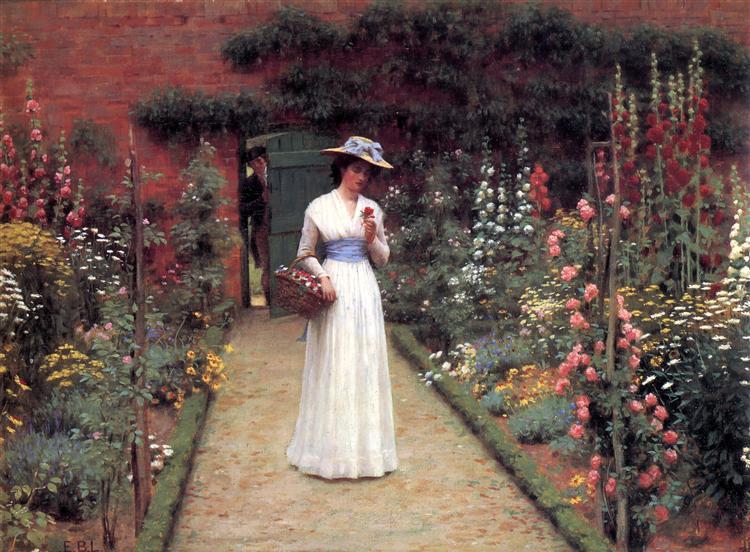 Lady in a Garden - Frederic Leighton