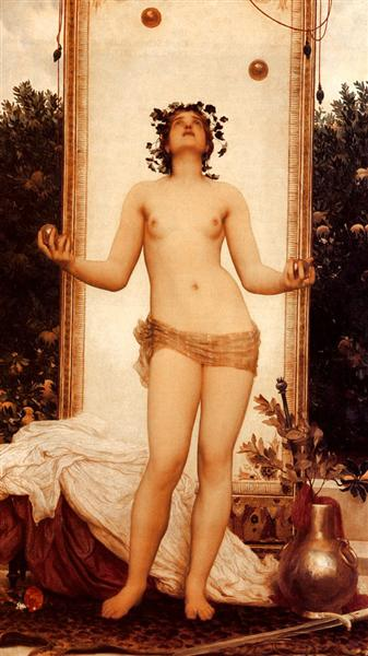 The Antique Juggling Girl - Frederic Leighton