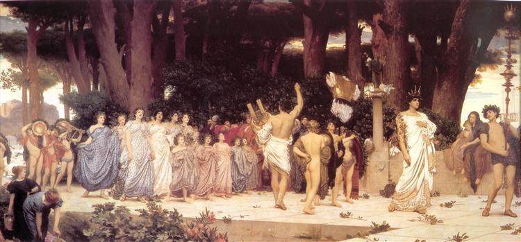 The Daphnephoria, c.1875 - Frederic Leighton