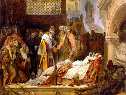 The Reconciliation of the Montagues and Capulets, 1854 - Фредерик Лейтон