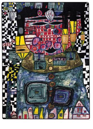 928 Antipode King, 1991 - Friedensreich Hundertwasser