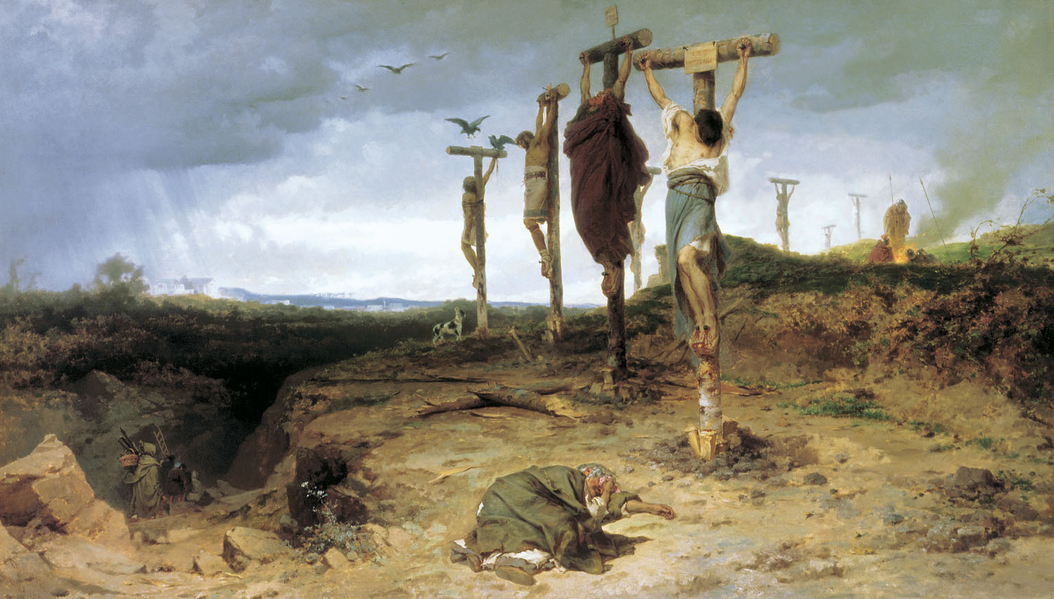 Cursed field  The place of execution in ancient Rome  Crucified