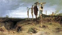 Cursed field. The place of execution in ancient Rome. Crucified slave - Fyodor Bronnikov