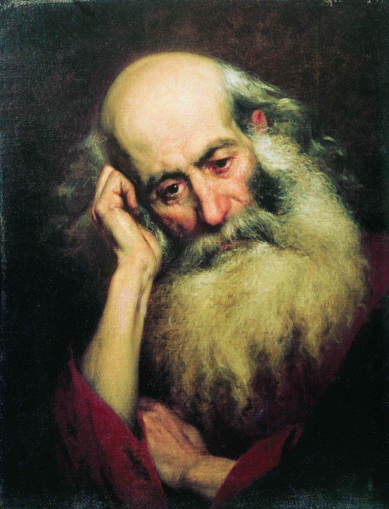 Portrait of an old man, 1874
