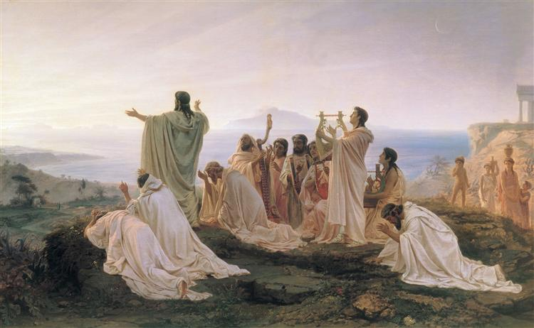 Pythagoreans celebrate sunrise, 1869 - Fyodor Bronnikov