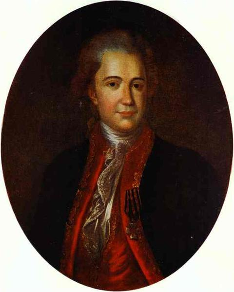 Portrait of an Unknown Man, c.1780 - Fyodor Rokotov