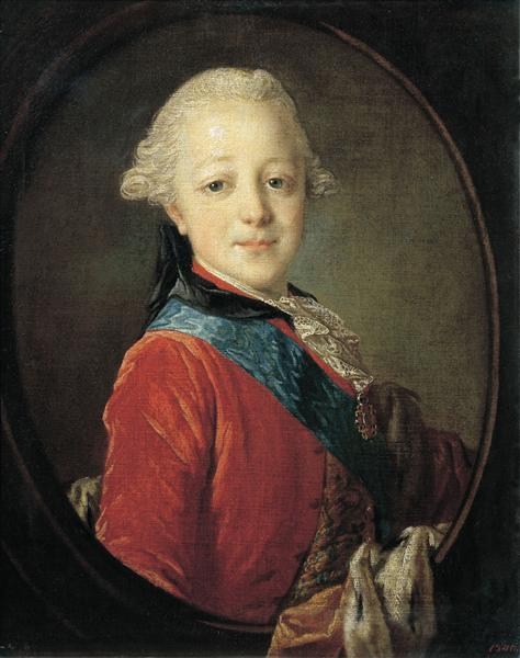 Portrait of Emperor Paul I as a Child, 1761 - Fyodor Rokotov