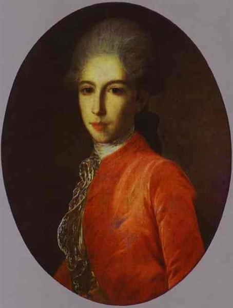 Portrait of Prince Ivan Bariatinsky as a Youth, c.1780 - Fyodor Rokotov