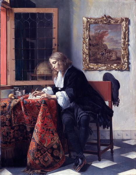 Man Writing a Letter, c.1664 - c.1666 - Gabriel Metsu