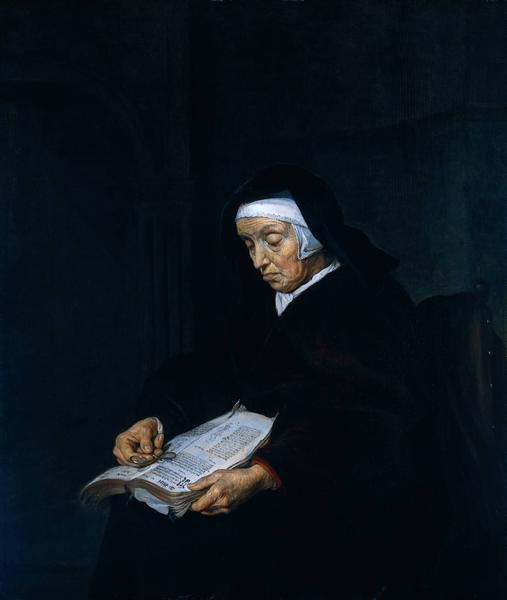 Old Woman Meditating, c.1660 - c.1662 - Gabriël Metsu