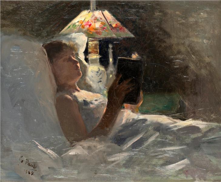 The Reading Light, 1884 - Georg Pauli