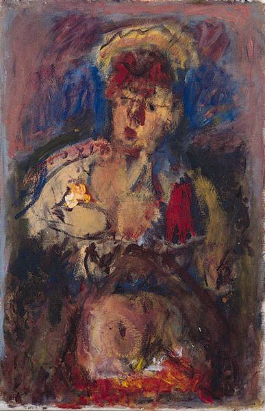 Woman with Flowers, 1950 - Георгос Бузианис