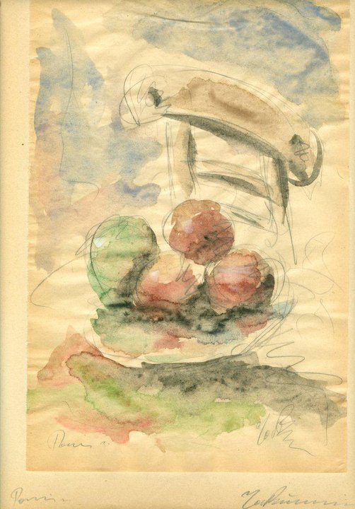 Still Life with Fruit and Chair, 1931