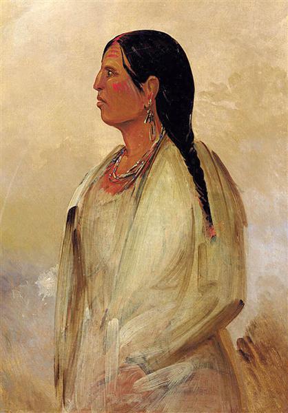 A Choctaw Woman, 1834 - Джордж Кетлін