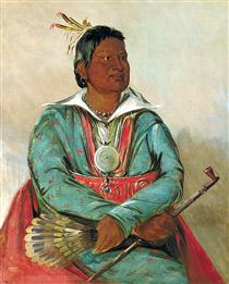 Mó-sho-la-túb-bee, He Who Puts Out and Kills, Chief of the Tribe - Джордж Кетлін