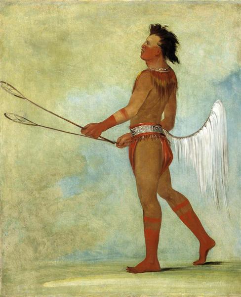 Tul-lock-chísh-ko, Drinks the Juice of the Stone, in Ball-player's Dress (Choctaw), 1834 - George Catlin