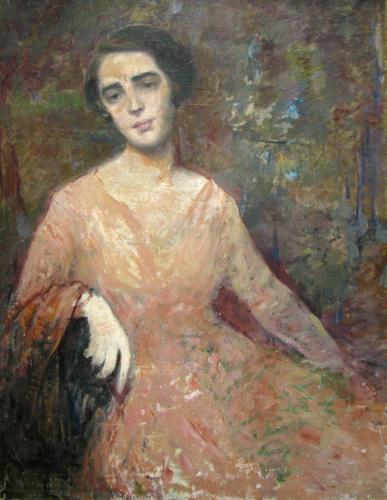 Lady with Pink Dress - George Demetrescu Mirea