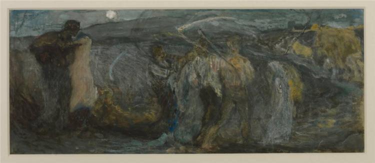 Study for 'The Harvest Moon', 1872 - George Hemming Mason