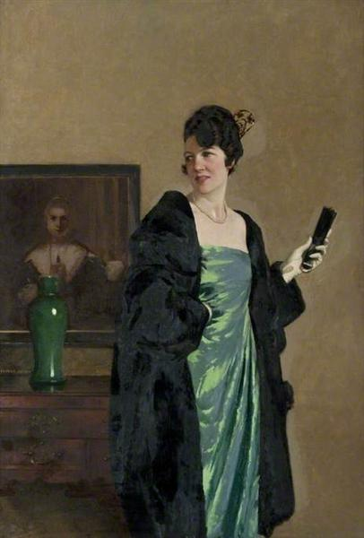 Lady in a Green Dress - George Henry