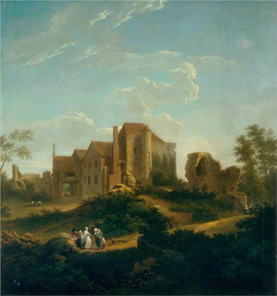 Ruins of Leybourne Castle, Kent, from the South West, 1737 - George Lambert