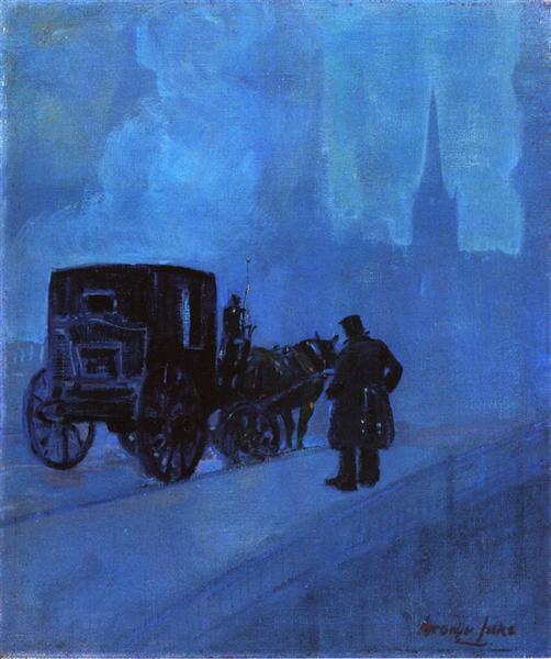 A Foggy Night - George Luks