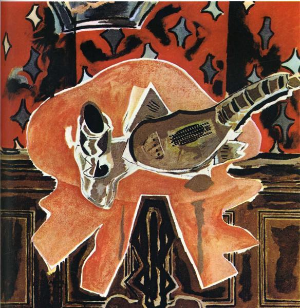 A Red Pedestal, 1942 - Georges Braque