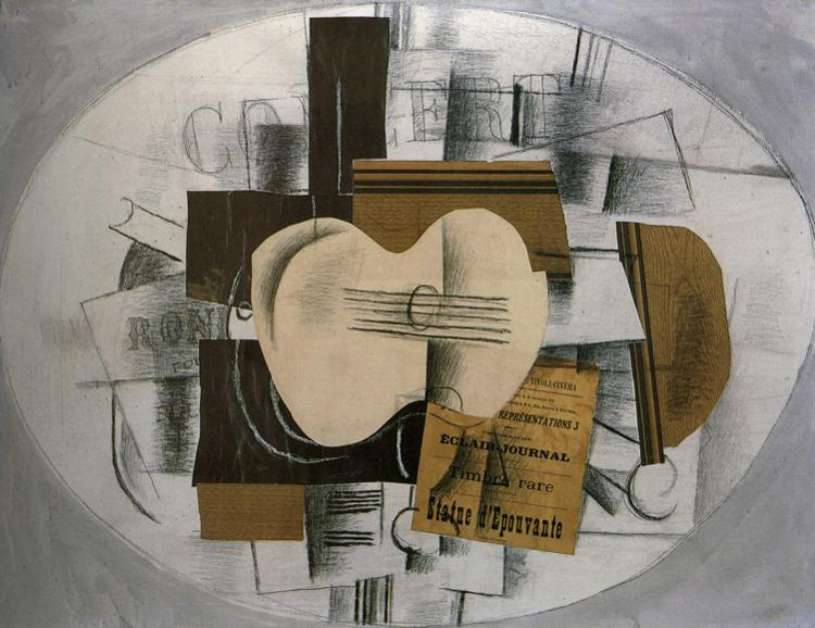 """Assez Guitar """"Program statue d'epouvante"""", 1913 - Georges Braque  LC47"""