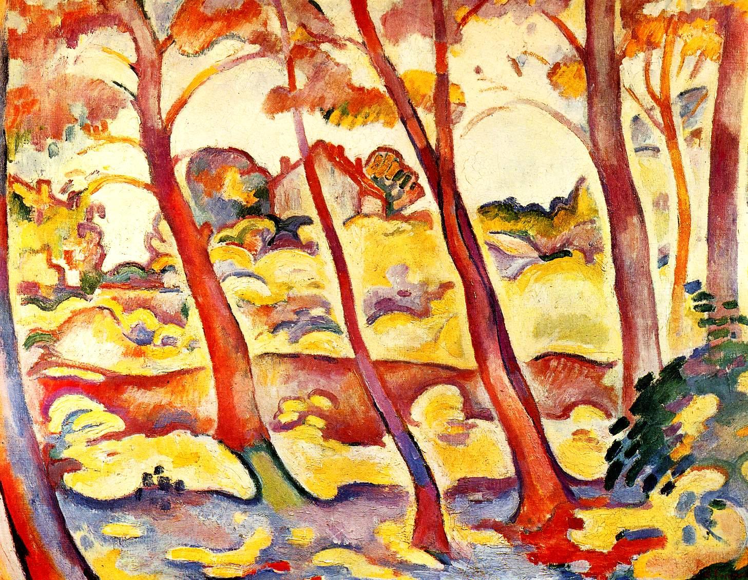 Georges braque for Paysage peinture